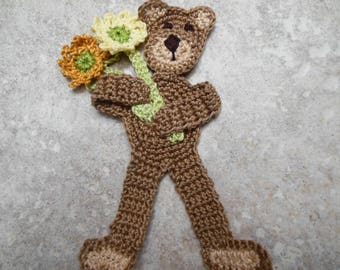 Postbound fabric scrapbook album baby boy teddy bear
