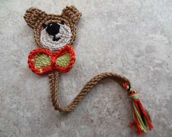 Bookmark, Crochet Teddy Bear Bookmark, Animal Bookmark, Woodland Bear Page Marker Gift for Book Worm, Kids and Adults Cute Unique Gifts