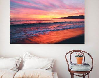 Sunset Dreams / Beach Photography / Sunset / Santa Monica / Beach Print / California