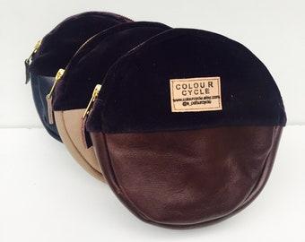 Pouch 'Midinght' Velvet Leather