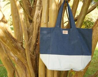 Sailor Blues Tote Bag. Large Tote