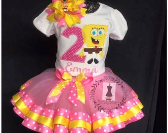 SpongeBob SquarePants Personlized birthday tutu dress outfit