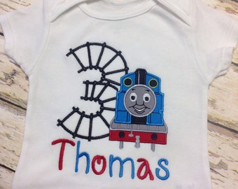 Thomas the Train Birthday Appliqué Shirt.