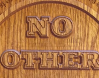No Other Name Acts 4:12 Wall Plaque (with Free Shipping)