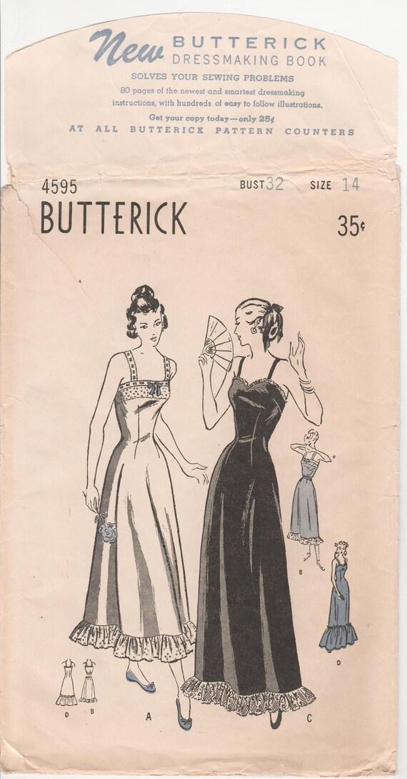 1940er Jahre Dessous Muster lange Slip Muster Petticoat Muster   Etsy