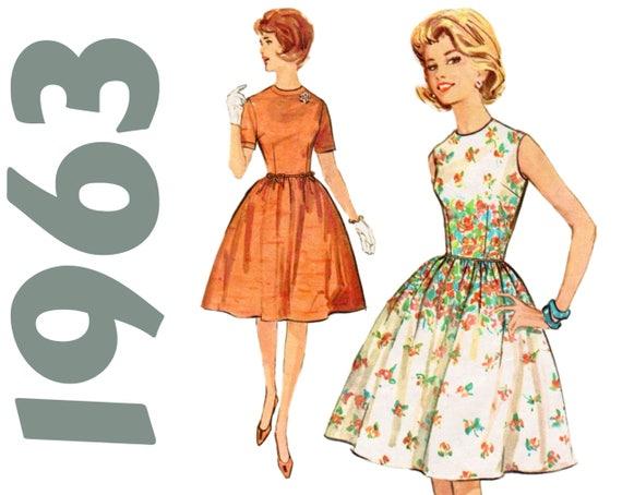 Fit und Streulicht Kleid 1960er Jahre Party Kleid Einfachheit