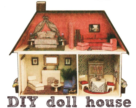 DIY Dollhouse Pattern SIMPLICITY 9821 UNCUT Vintage Dollhouse And Dollhouse  Furniture Pattern Doll House Furniture Girls Toys Doll Accessory From ...