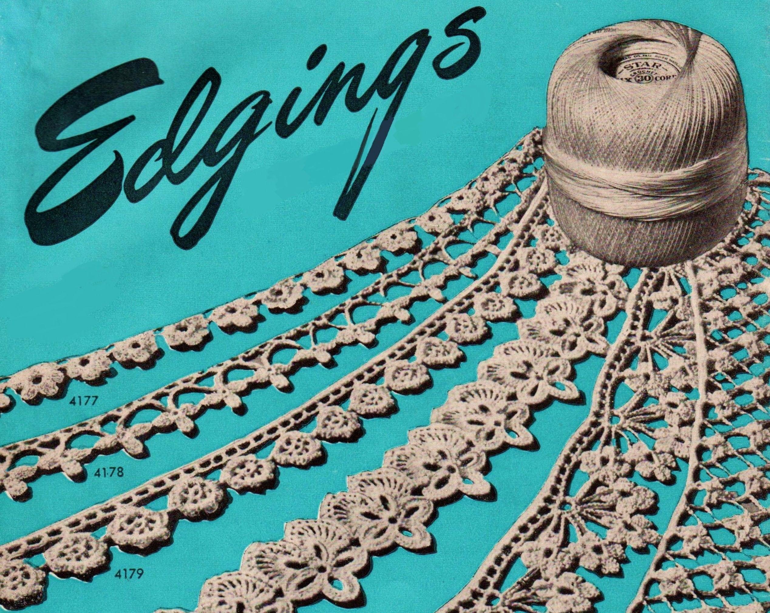 60 Vintage Crochet Edging Patterns Crochet Lace Pattern Pdf Etsy