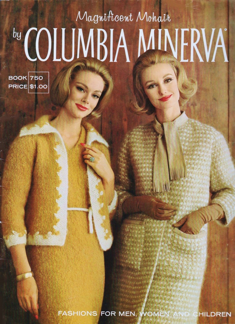 Vintage Knitting Patterns Mohair Sweater Pattern Columbia Etsy