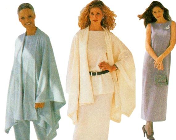 Womens Cape Pattern Pullover Dress Jersey Dress Pattern Etsy