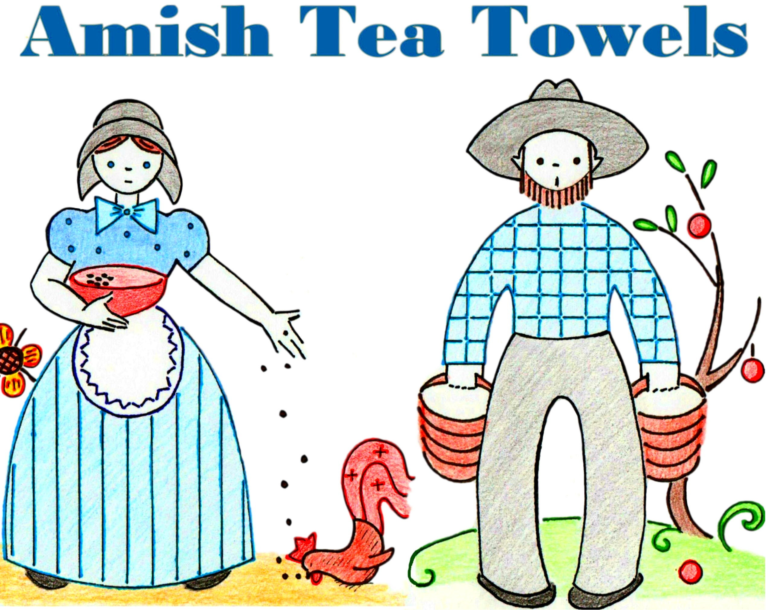 Amish Tea Towels Day Of The Week Flour Sack Towels PDF DOWNLOAD ...
