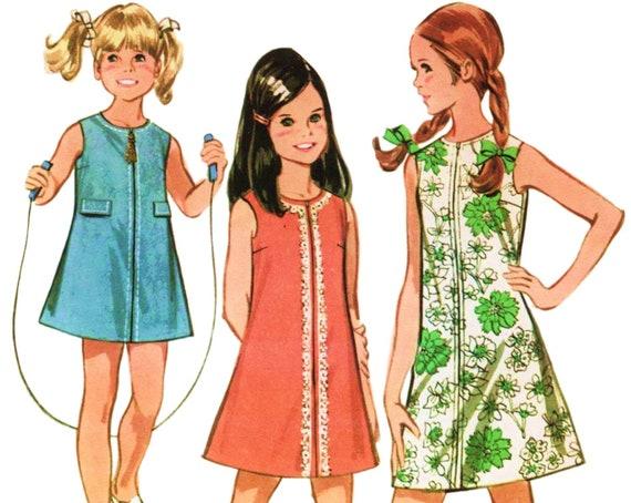 Mädchen Roller Kleid Mädchen Mod Kleid Schnittmuster McCALLS | Etsy