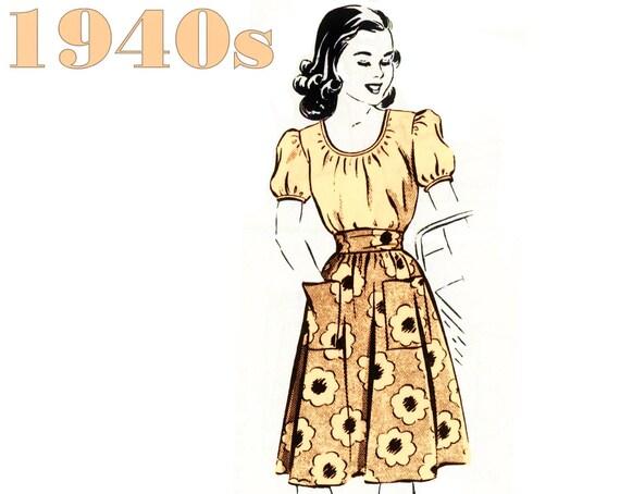 1940er Jahre Büste Bluse und Rock Bauer Bluse Versandhandel | Etsy