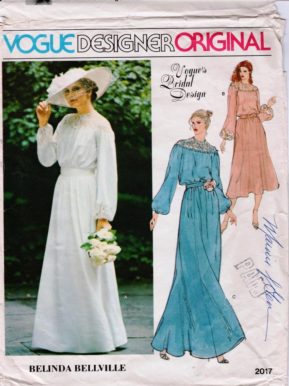 Modest Wedding Dress Long Sleeve Wedding Gown Pattern VOGUE 2017 ...