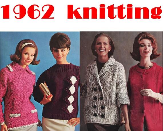 1960s Knitting Patterns Big Needle Fashions By Bernat Book 110 Etsy