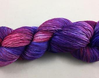 hand dyed sock yarn, multi-colorway PANACHE, fingering weight, superwash merino wool and nylon, 4 ply