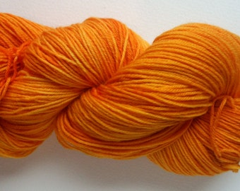 hand dyed sock yarn, fingering weight, Superwash Merino and Nylon, FIRE HYDRANT colorway