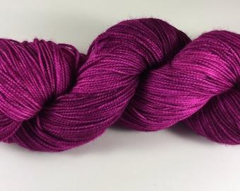 hand dyed sock yarn, fingering weight, superwash merino and nylon, colorway BOUQUET