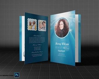 Beerdigung Programm Vorlage MS Word und Photoshop-Vorlage
