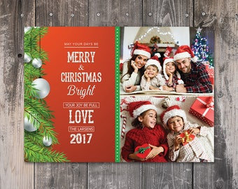 Christmas card templates for photographers etsy bright christmas christmas card template for photographer christmas family card adobe photoshop elements template instant download maxwellsz