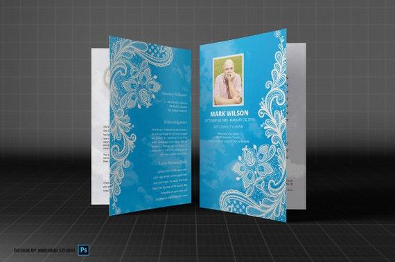 Beerdigung Programm Vorlage MS Word und Photoshop-Vorlage | Etsy