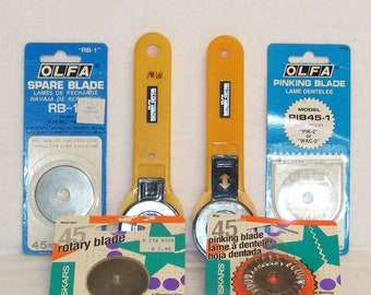 2 Olaf Rotary Cutter New Spare Blade RTY-2G Pinking Blade PIB45-1 45mm Fiskars Spare Pinking Blade 9532 Rotary Blade 9531 Quilting Sewing