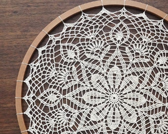 Mandala o Atrapa sueños gigante tejido a crochet