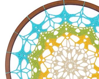 Atrapa sueños o mandala gigante tejida a crochet / PDF