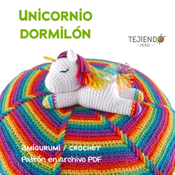 Sleeping unicorn pony crochet pattern | Pony de ganchillo, Patrón ... | 568x570