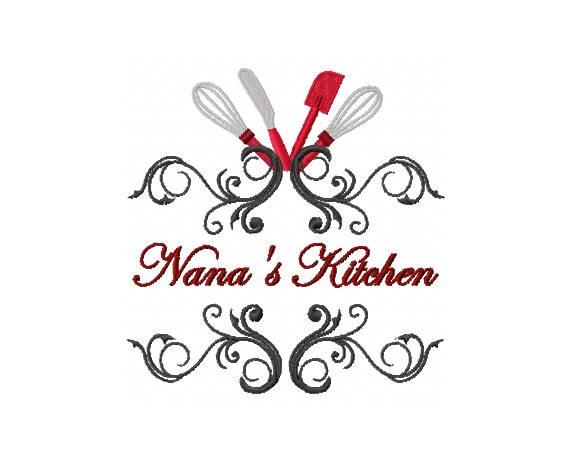 Nanas Kitchen Decor Nana Embroidery Design Kitchen Etsy