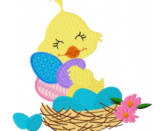 Easter Embroidery Design - Easter Egg Embroidery Design - Easter Chick Embroidery Design - Easter Chicken Embroidery Design - Kids Design