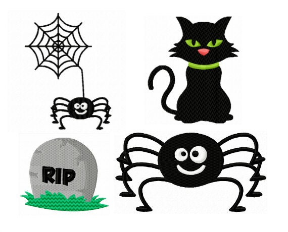Halloween Embroidery Pack Halloween Costume Embroidery Etsy