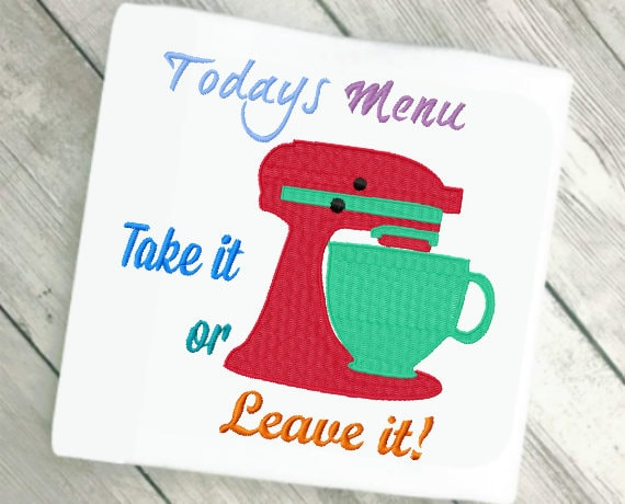 Kitchen Embroidery Design Funny Kitchen Art Mothers Day Etsy