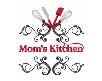 Moms Kitchen Design - Kitchen Embroidery Design - Moms Embroidery Design - Mother Day Embroidery Design - Baking Embroidery Design