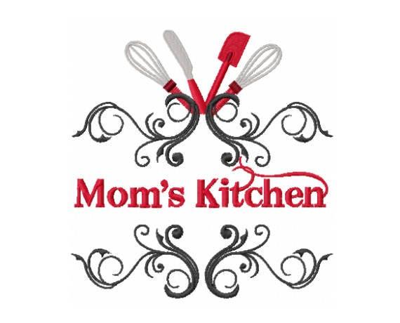 Moms Kitchen Design Kitchen Embroidery Design Moms Etsy