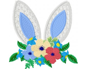 Easter Egg Embroidery Design - Easter Bunny Embroidery Design - Bunny Ears Embroidery Design - Machine Embroidery Design - Happy Easter