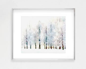 Forest Print, Trees Print, Mountain Print, Forest Printable, Forest Art, Nature Print, Landscape, Watercolor Print, Mountain Download