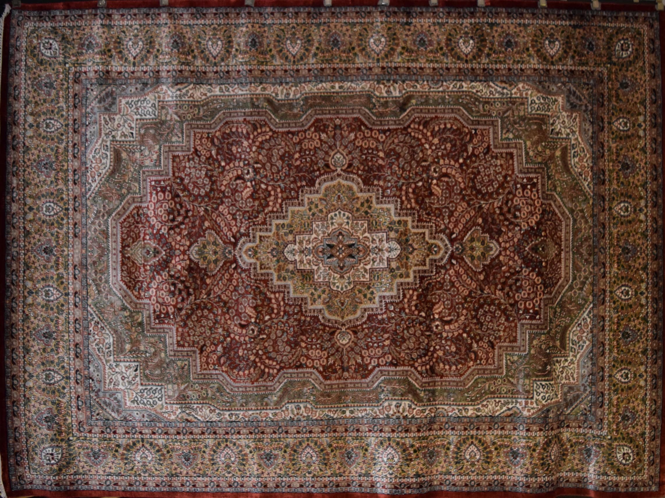 Beautiful Hand Knotted One Of The Kind Oriental Rugs Jammu Kashmir Size 9 0 X 12 0 Ft