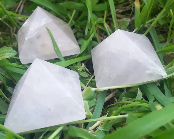 Rose Quartz Pyramid/ Crystal Pyramid/ Crystals/ PInk Crystal/ Supplies/ Terrarium/ Pyramind/ Pink/ Stone/ Love/ Gift