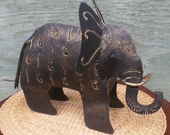 Candle Holder/ Lantern/ Elephant/ Elephant Candle Holder/ Home Decor/ Ganesha/ Holiday Gift/ Metal Candle Holder/ Vintage/ Gift/ Light