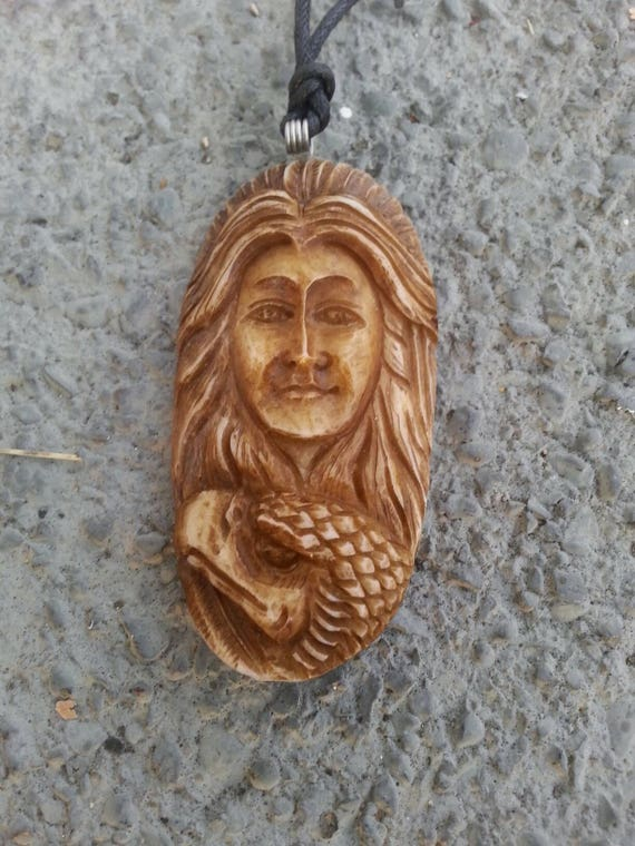 Bone Necklace* Jewelry* Carved Bone* Mens Jewelry* Gift for Her* Eagle* Necklace* Pendant* Craft Supplies* Pendant* Holiday Gift* Bird