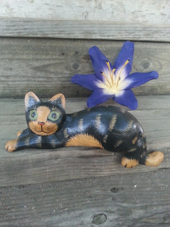 Wooden Cat* Cat* Vintage* Home Decor* Unique Gift* Decoration* Wood* Cat toy* Heart* Animal*