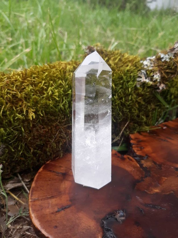 Quartz Crystal Tower, Clear Quartz, Metaphysical Healing, Gift, Yoga, Polished Stone, Quartz, Crystals, Home Decor, Paper Weight