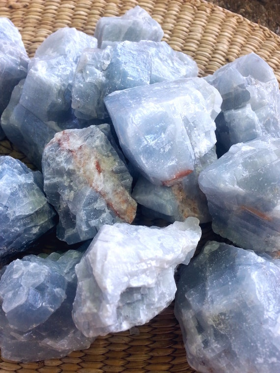Blue CALCITE/ Crystal/ Polished Stone/ Blue/ Metaphysical/ Healing/ Gift/ Chakra/ Stone/ Blue Crystal