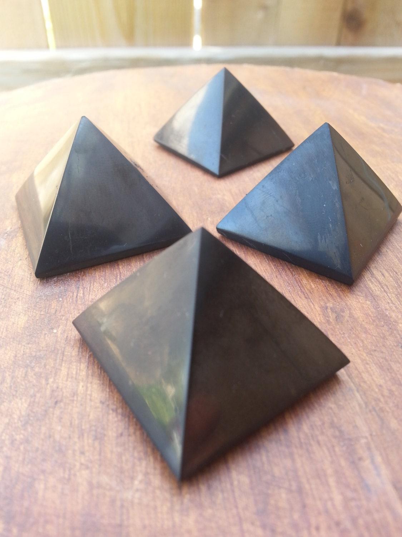 SHUNGITE/ Crystal Pyramid/ Shungite Pyramid/ Black