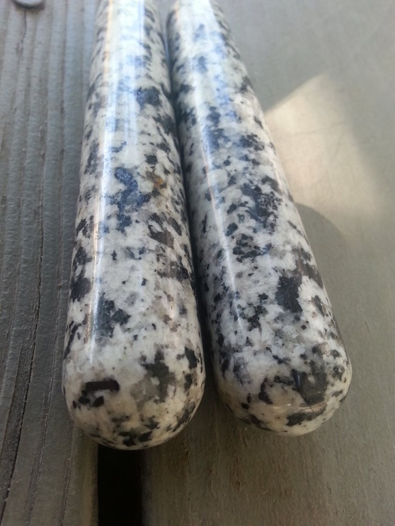 Dalmatian Jasper Wand/ Polished Stone/ Massage Wand/ Metaphysical/ Healing/ Crystal/ Unique Gift/ Tourmaline/ Jasper