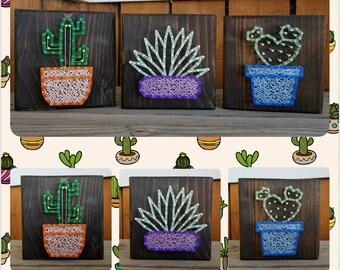 Cacti String Art set of three