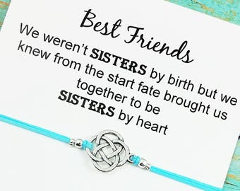 Celtic Knot Bracelet | Best Friend Bracelet | Friendship Bracelet |  BFF Charm Bracelet | Best Friend Birthday Gift