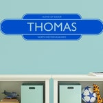 Train Name Plate Personalised Train Decal Vinyl Wall Stickers