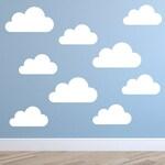 Set of Large Clouds Wall Decal – Nursery Wall Decal - Childs Room Wall Decal – Cloud Decal – Cloud Wall Art - Cloud Vinyl Wall Sticker